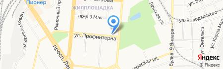 Отдел судебных приставов Октябрьского района на карте Барнаула