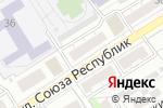 Схема проезда до компании Мебелини в Барнауле