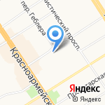 Леон на карте Барнаула