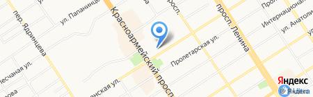 Отделение пенсионного фонда России по Алтайскому краю на карте Барнаула