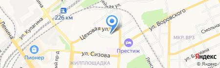 Институт текстильной и легкой промышленности на карте Барнаула