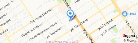 Планета удовольствий на карте Барнаула