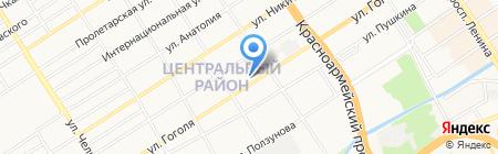 АЗС Петролина на карте Барнаула
