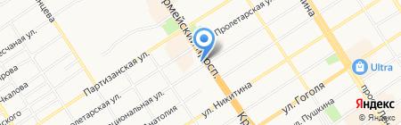 Работа сегодня на карте Барнаула