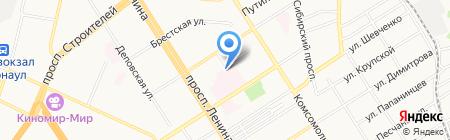 Железнодорожная больница ст. Барнаул на карте Барнаула