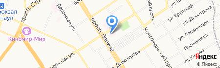 Родильный дом №2 на карте Барнаула