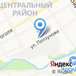 Тритон на карте Барнаула