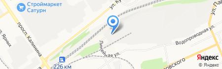 Штрафстоянка на карте Барнаула