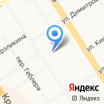 Рубин на карте Барнаула