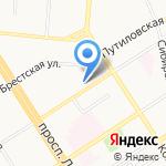 Цивилист на карте Барнаула