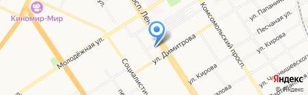 Центральная на карте Барнаула