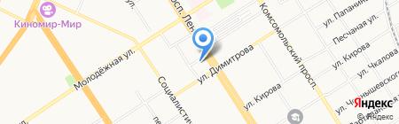 РЦ на карте Барнаула