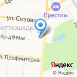 Тимоха на карте Барнаула