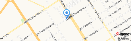 Нотариус Комарова Л.Н. на карте Барнаула