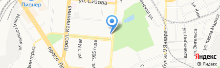 Каркаде на карте Барнаула