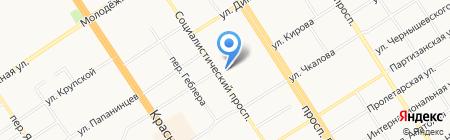 Международный институт экономики менеджмента и информационных систем на карте Барнаула