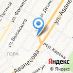 Аквамарин на карте Барнаула