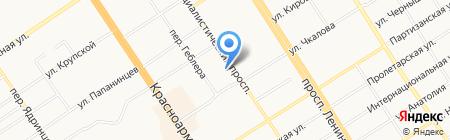 Магазин юридической литературы на карте Барнаула