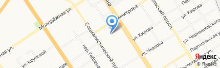 Детский сад №116 на карте Барнаула