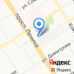 Постомат на карте Барнаула
