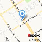 Родена на карте Барнаула