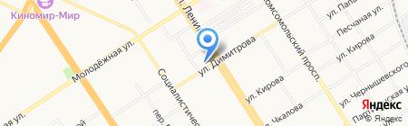 Ломбард-Золотофф на карте Барнаула