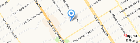 Музыкальная школа №1 им. А.К. Глазунова на карте Барнаула