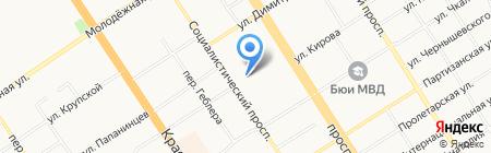 Лига студентов АлтГУ на карте Барнаула