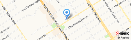 Дарт на карте Барнаула