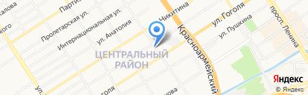 Алира на карте Барнаула
