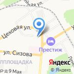 Здоровячок на карте Барнаула