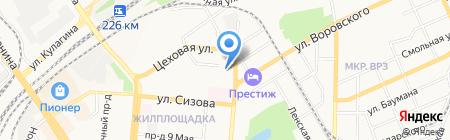 Детский сад №12 на карте Барнаула