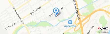 Алтайский ринг на карте Барнаула