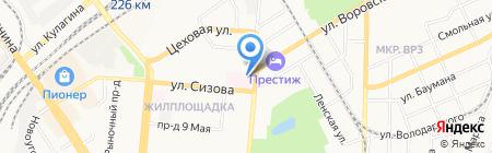 Алтайский противотуберкулезный диспансер на карте Барнаула