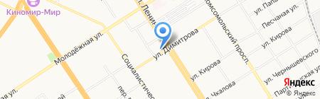 Belwest на карте Барнаула