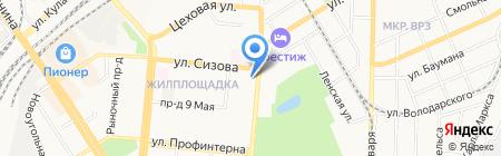 Домашняя фея на карте Барнаула