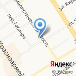 Первомайское на карте Барнаула