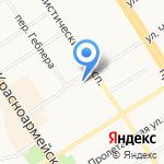Респект на карте Барнаула