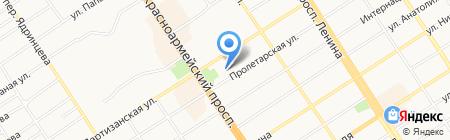 Скиф на карте Барнаула