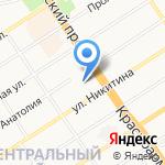 РусСети на карте Барнаула