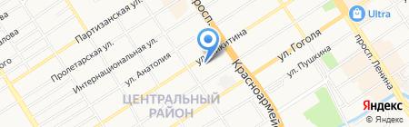 Алтайская бельевая компания на карте Барнаула