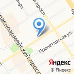 Центр маникюра и педикюра на карте Барнаула