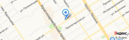 Аура на карте Барнаула