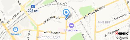 Толстый краб на карте Барнаула