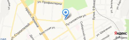 Территория роста на карте Барнаула