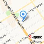 Облака на карте Барнаула