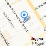 Эвита на карте Барнаула