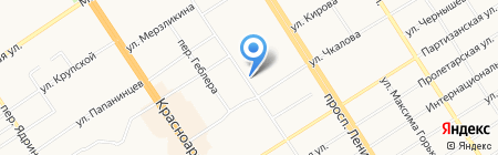 Зайка на карте Барнаула