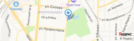 Автолюкс на карте Барнаула