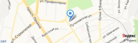 Дельтаком на карте Барнаула